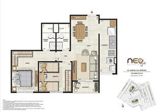 Colunas 3 e 4 | NEO Life Residencial  – Apartamento em  São Cristovão - Rio de Janeiro - Rio de Janeiro