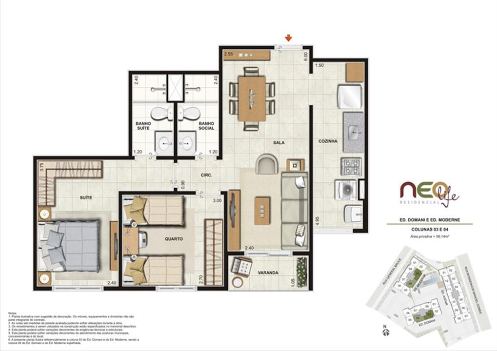 Colunas 3 e 4 | NEO Life Residencial  – Apartamentoem  São Cristovão - Rio de Janeiro - Rio de Janeiro