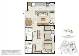 Colunas 3, 6, 9 e 12 | NEO Life Residencial  – Apartamento em  São Cristovão - Rio de Janeiro - Rio de Janeiro