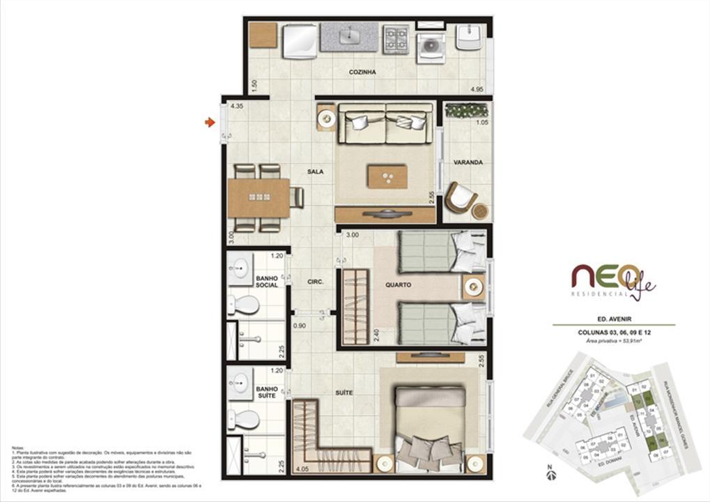Colunas 3, 6, 9 e 12 | NEO Life Residencial  – Apartamentoem  São Cristovão - Rio de Janeiro - Rio de Janeiro