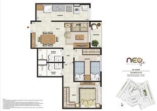 Colunas 4 e 5 | NEO Life Residencial  – Apartamento em  São Cristovão - Rio de Janeiro - Rio de Janeiro