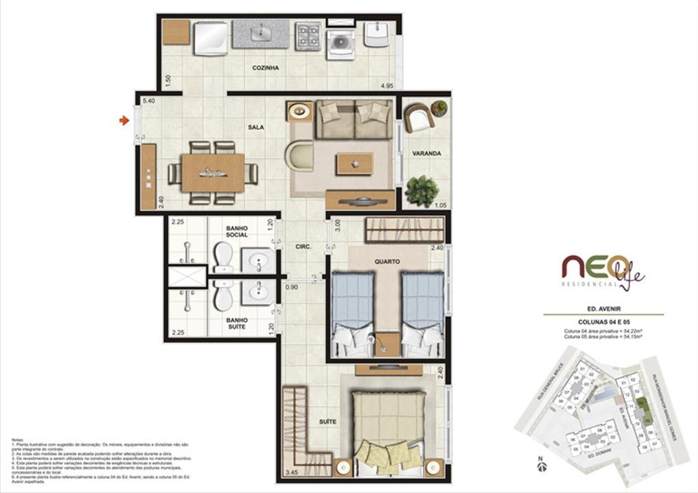 Colunas 4 e 5 | NEO Life Residencial  – Apartamentoem  São Cristovão - Rio de Janeiro - Rio de Janeiro