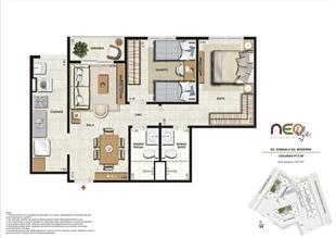Colunas 7 e 8 | NEO Life Residencial  – Apartamento em  São Cristovão - Rio de Janeiro - Rio de Janeiro