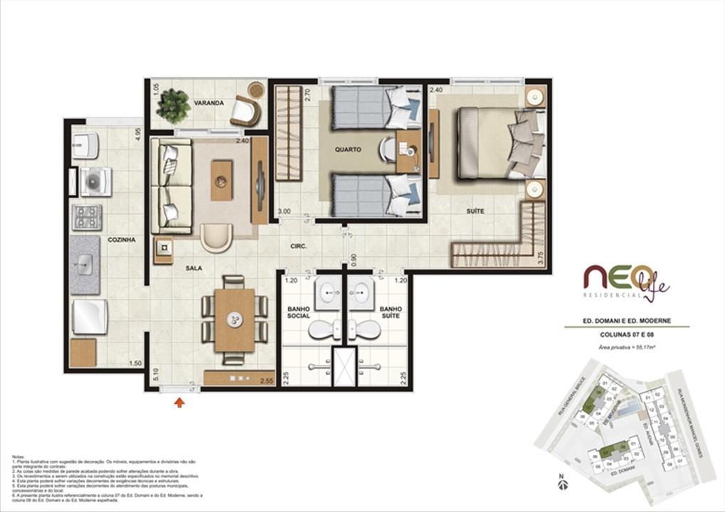 Colunas 7 e 8 | NEO Life Residencial  – Apartamentoem  São Cristovão - Rio de Janeiro - Rio de Janeiro