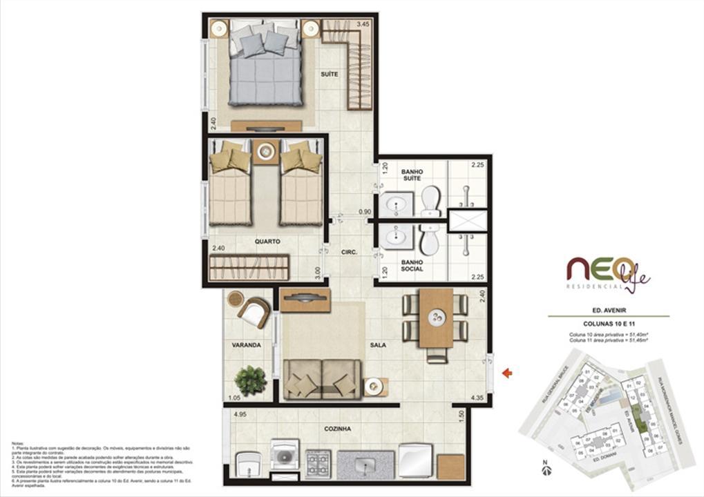 Colunas 10 e 11 | NEO Life Residencial  – Apartamentoem  São Cristovão - Rio de Janeiro - Rio de Janeiro