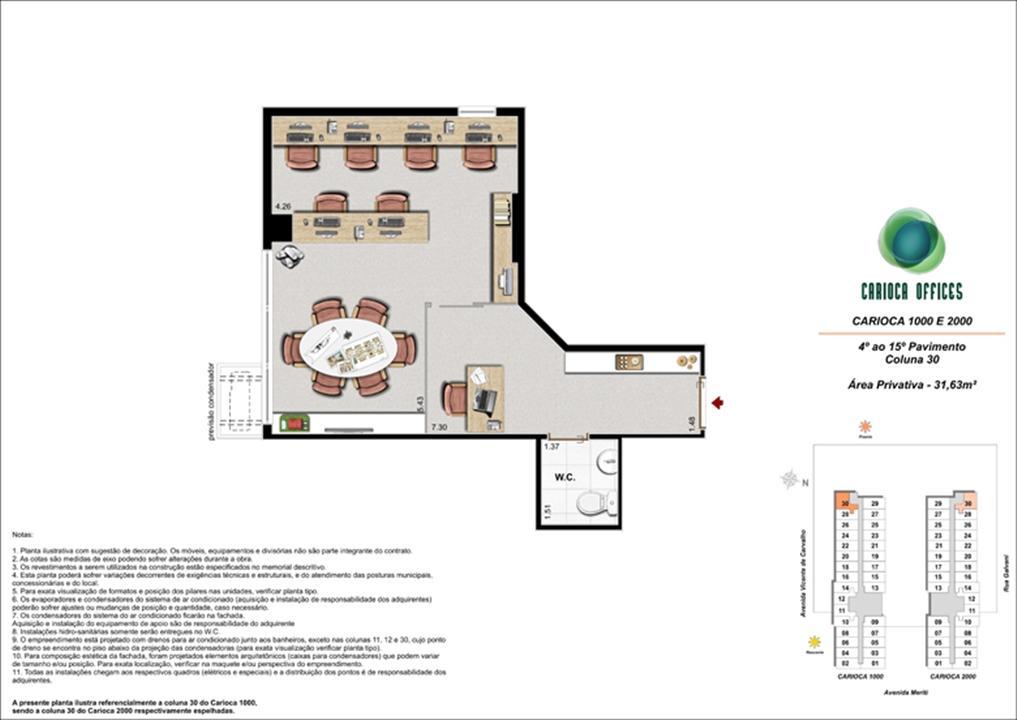 Carioca 1000 e 2000 - Coluna 30 - 4º ao 15º Pavimento | Carioca Offices – Salas Comerciaisna  Vila da Penha - Rio de Janeiro - Rio de Janeiro
