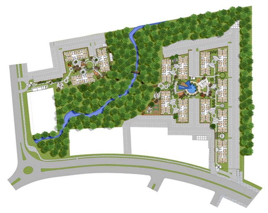 Perspectiva ilustrada da implantação | Reserva Ipanema – Apartamentoem  Ipanema - Porto Alegre - Rio Grande do Sul