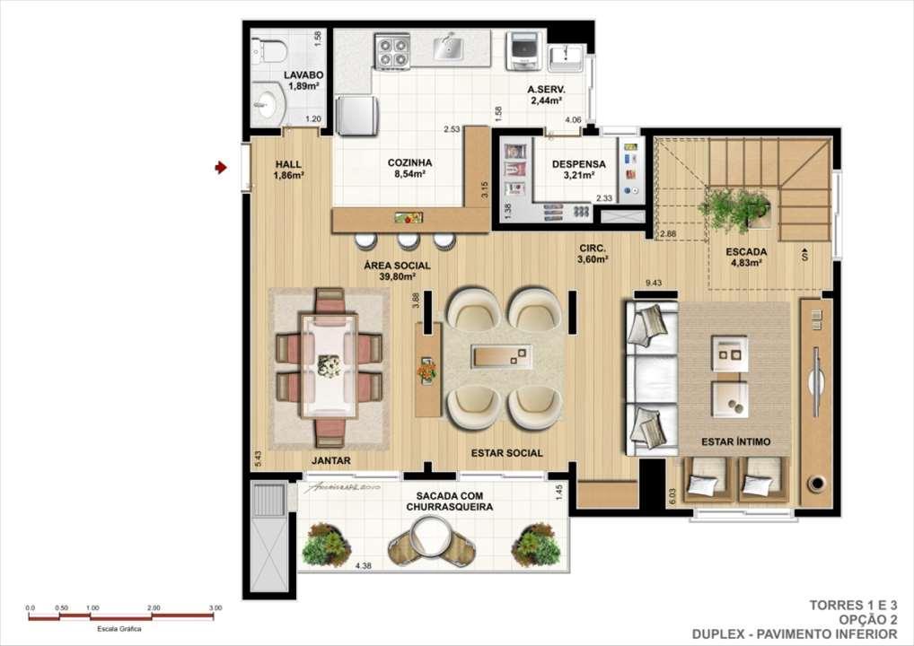 Duplex Inferior - Opção B | Ideale Residencial – Apartamentono  Santa Quitéria - Curitiba - Paraná