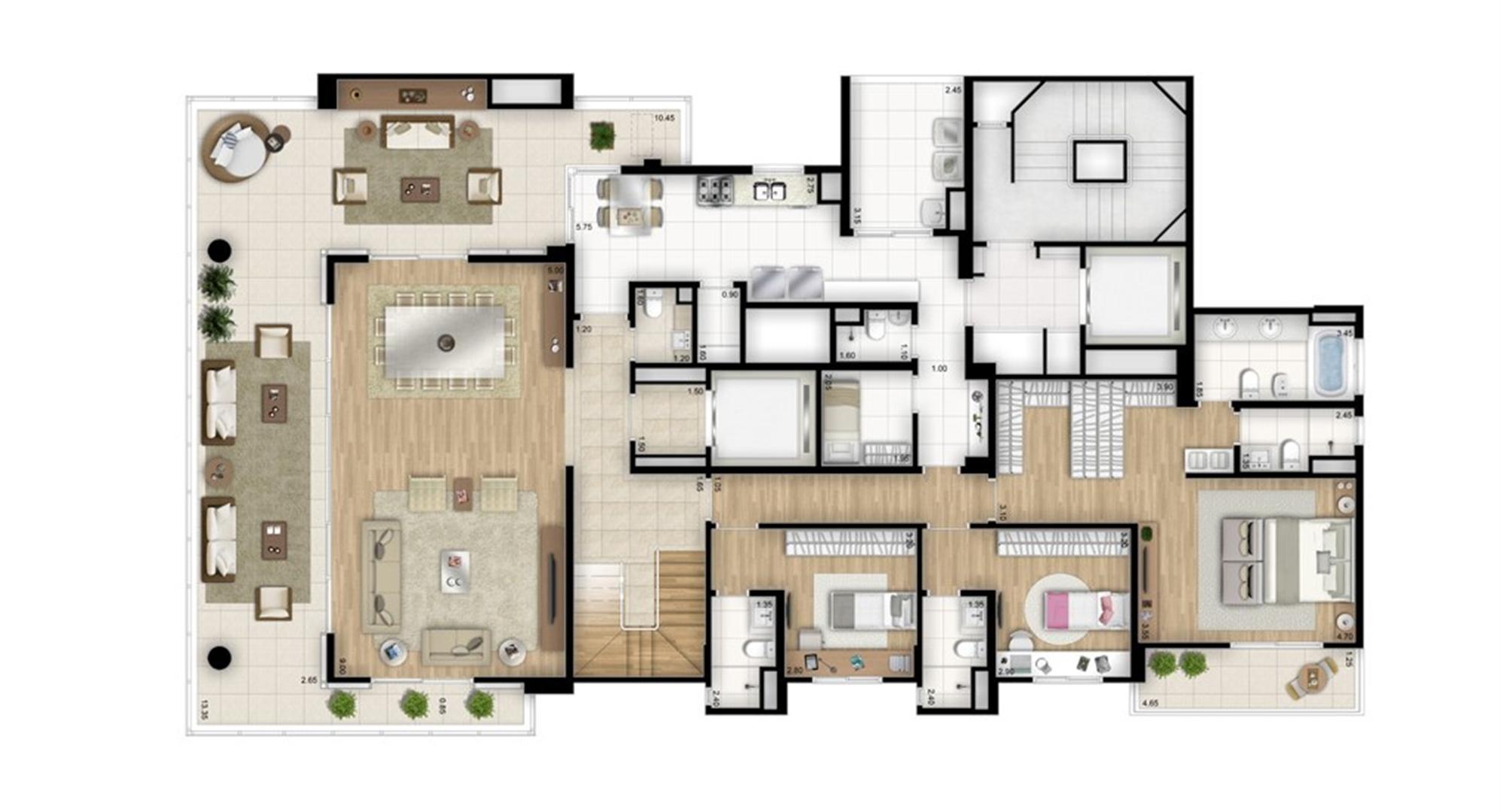 Cobertura duplex inferior - Torre Bianco | Cyrela Essenza Moema – Apartamento em  Moema - São Paulo - São Paulo