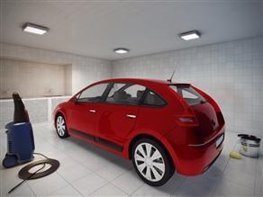 Ilustração Artística do Car Wash