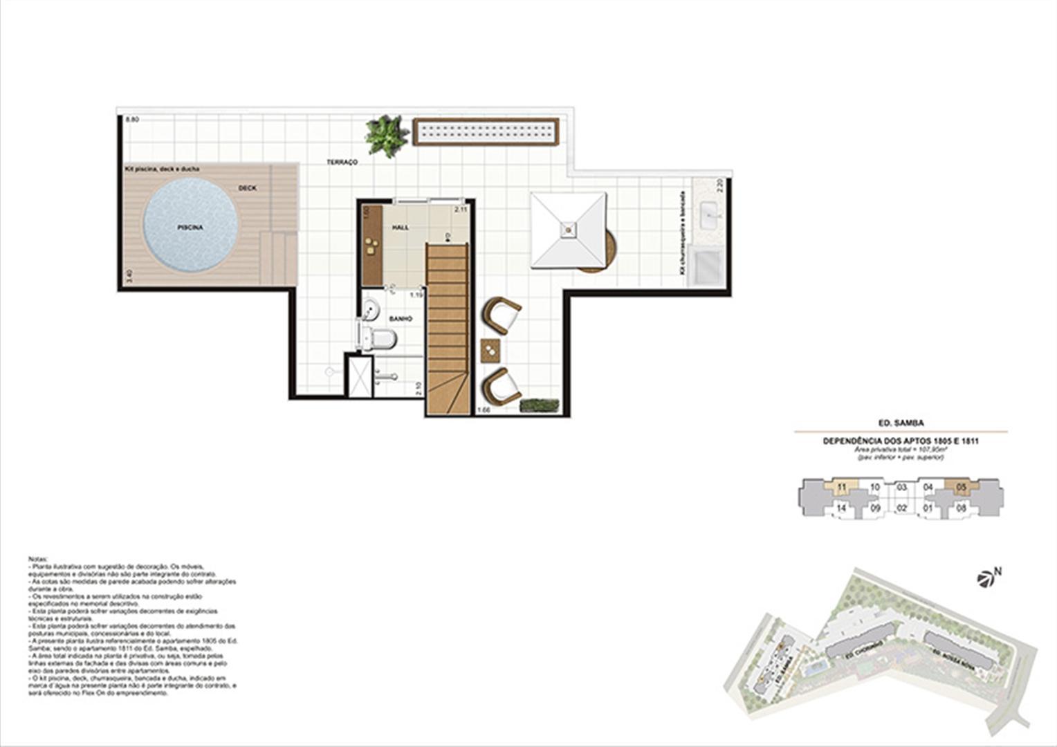 Planta:  | Rio Parque - Carioca Residencial - Apartamento no Del Castilho - Rio de Janeiro Rio de Janeiro