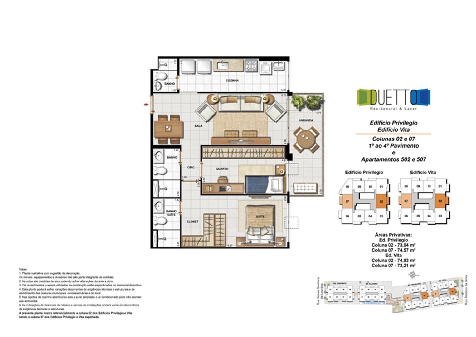 2 Quartos com suíte - 73 a 74m² | Duetto Residencial & Lazer – Apartamento no  Grajaú - Rio de Janeiro - Rio de Janeiro