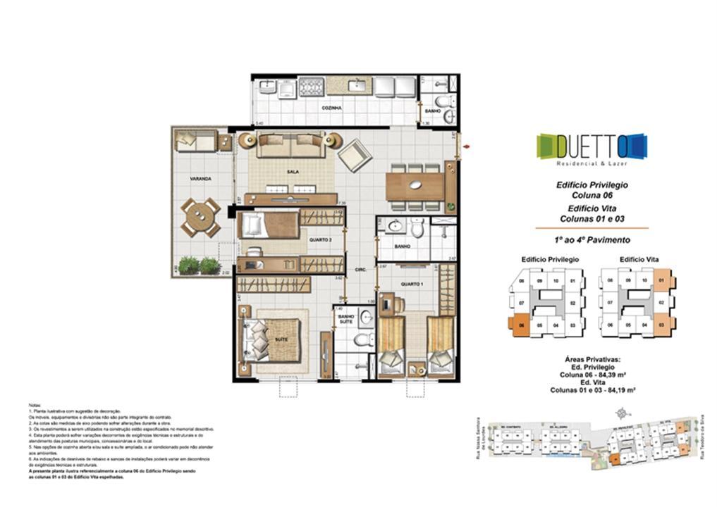 3 Quartos com suíte - 84m² | Duetto Residencial & Lazer – Apartamentono  Grajaú - Rio de Janeiro - Rio de Janeiro