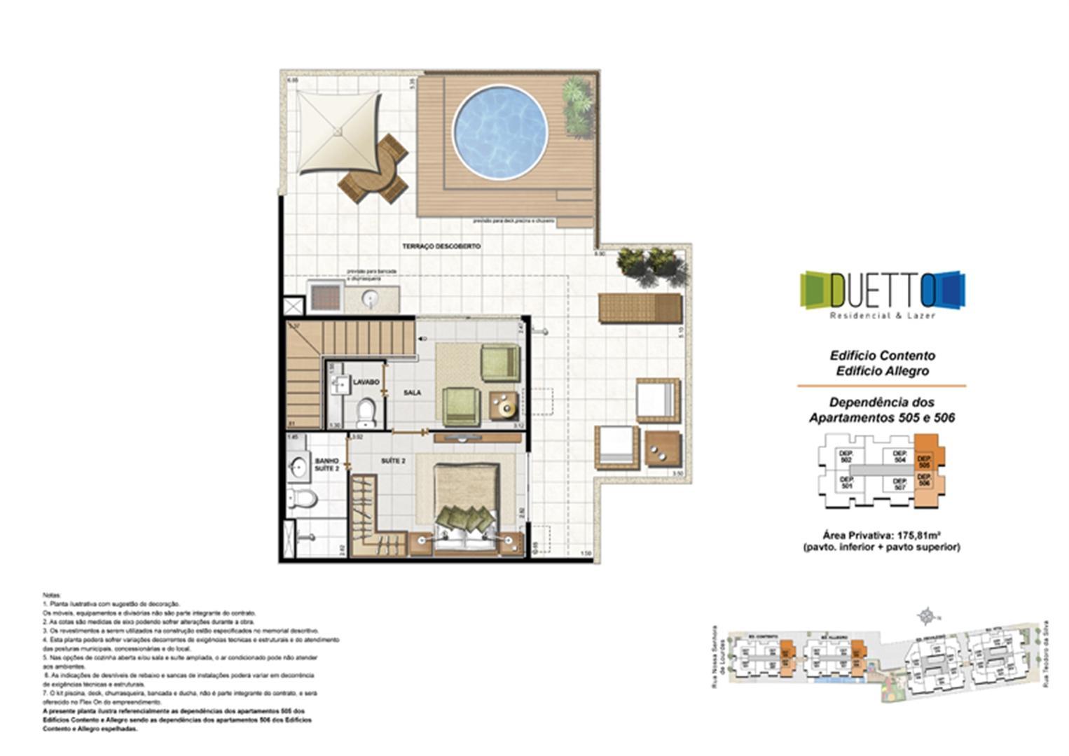 Cobertura Duplex - 3 Quartos com suíte - 175,81m² - pavto Inferior + pavto superior (2) | Duetto Residencial & Lazer – Apartamento no  Grajaú - Rio de Janeiro - Rio de Janeiro