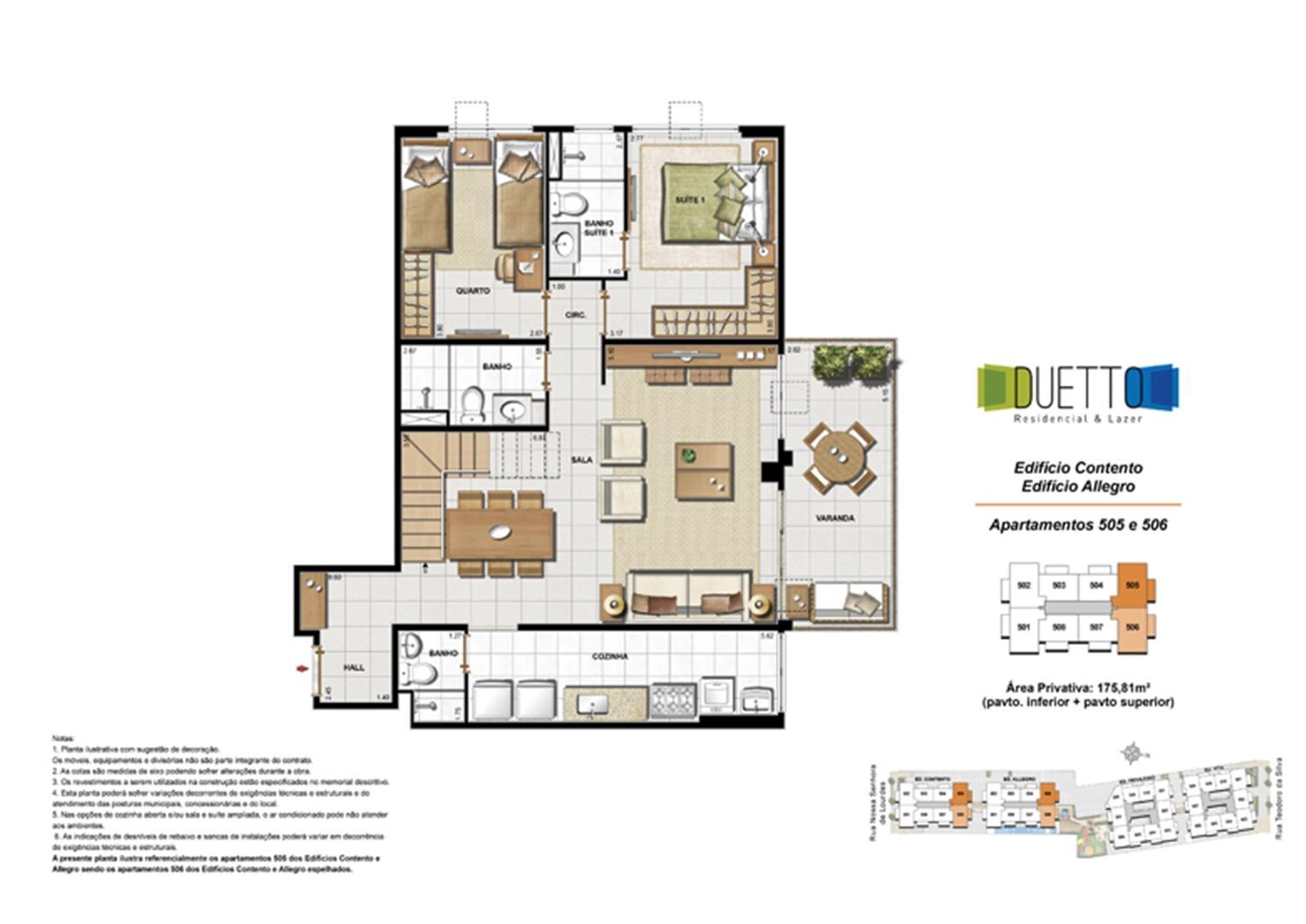 Cobertura Duplex - 3 Quartos com suíte - 175,81m² - pavto Inferior + pavto superior | Duetto Residencial & Lazer – Apartamento no  Grajaú - Rio de Janeiro - Rio de Janeiro
