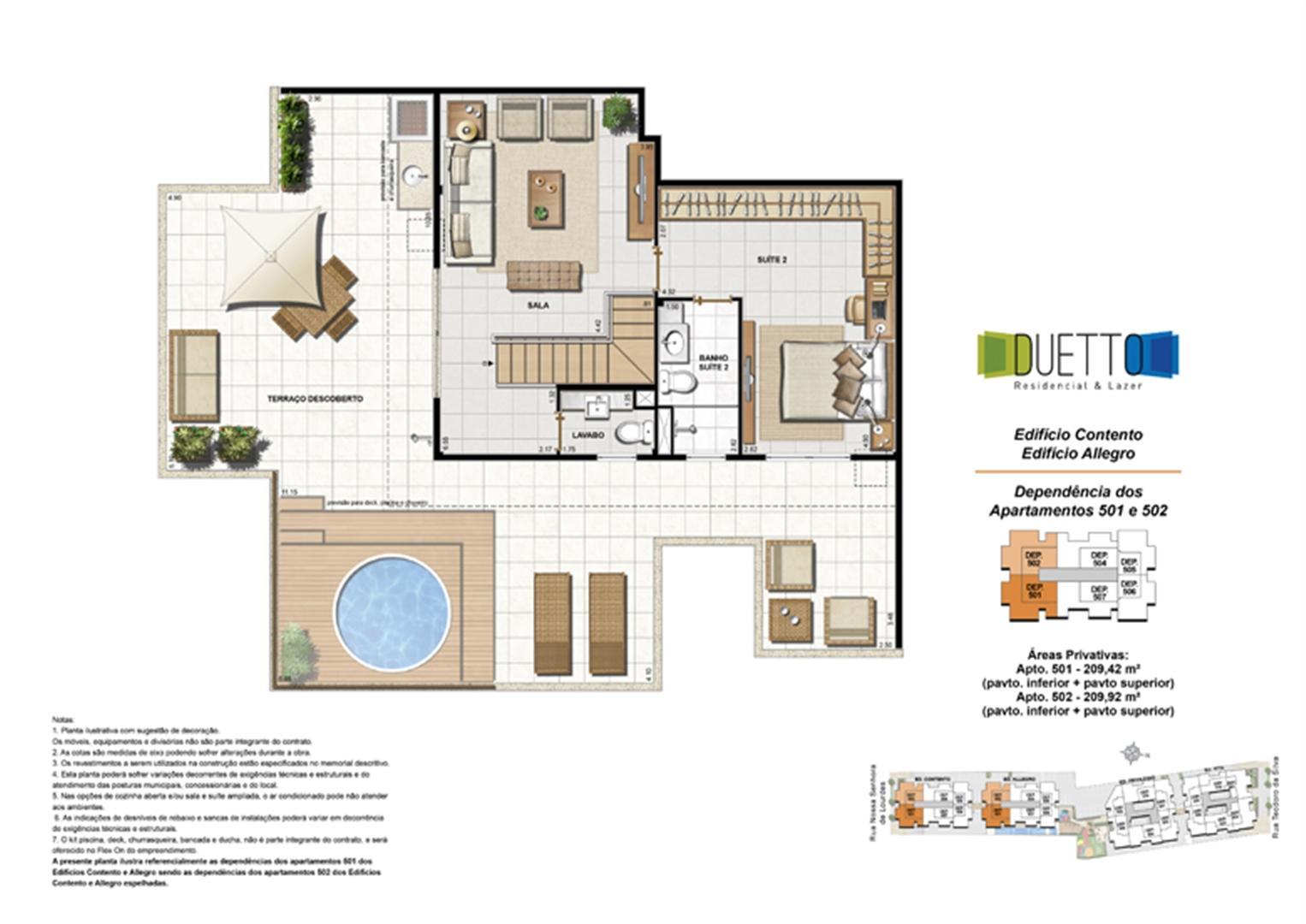 Cobertura Duplex - 3 Quartos com suíte - 209m² - pavto Inferior + pavto superior (2) | Duetto Residencial & Lazer – Apartamento no  Grajaú - Rio de Janeiro - Rio de Janeiro