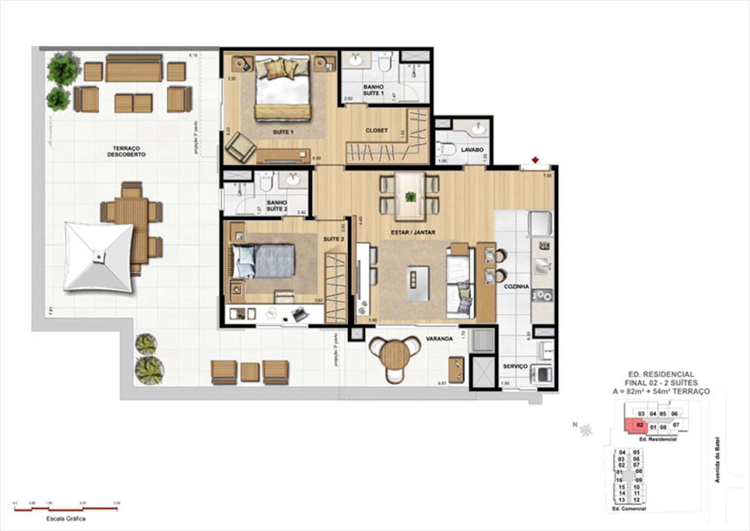 Apartamento 2 Suítes com Terraço | 1550 Batel (Home Batel) – Apartamento no  Batel - Curitiba - Paraná